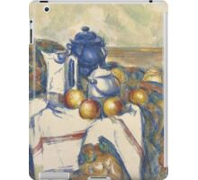 Paul Cezanne - Still Life with Blue Pot  1900 - 1906 iPad Case/Skin