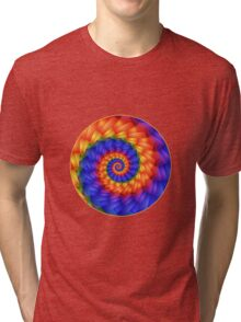 Beautiful Psychedelic Rainbow Spiral  Tri-blend T-Shirt