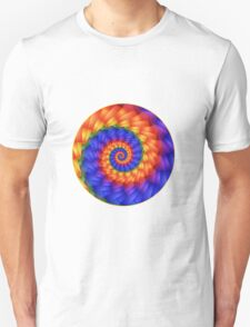 Beautiful Psychedelic Rainbow Spiral  T-Shirt