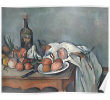 Paul Cezanne - Still Life with Onions 1896 - 1898 Poster
