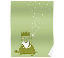 Little King Leprechaun on a Turtle Poster