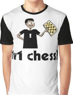 1v1 chess? (Chess Nerd) Graphic T-Shirt