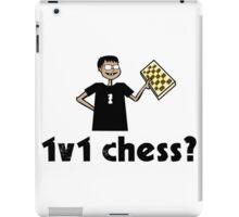 1v1 chess? (Chess Nerd) iPad Case/Skin