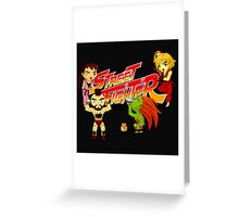 STREET FIGHTER TOON Greeting Card