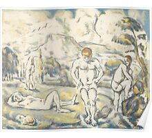 Paul Cezanne - The bathers large plate 1896-08 Poster