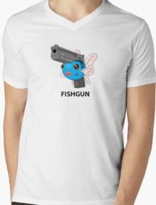 Pokemon Fishgun Mens V-Neck T-Shirt