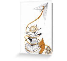 High as a kite. Greeting Card