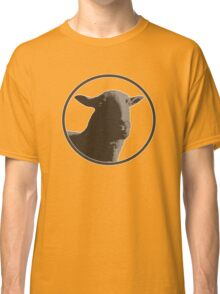 Black sheep on a variety of colorful backgrounds Classic T-Shirt