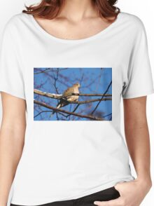 Mourning Dove In Winter Light Women's Relaxed Fit T-Shirt