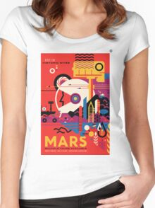 A Mars Mission (NASA/JPL) Women's Fitted Scoop T-Shirt