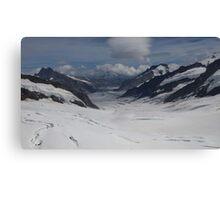 Jungfrau Mountain Top Of Europe Canvas Print