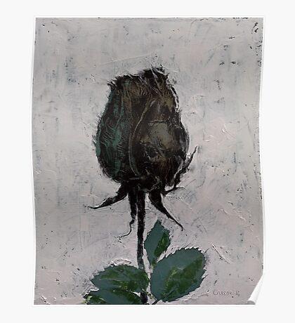 Black Rosebud Poster