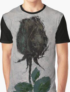 Black Rosebud Graphic T-Shirt
