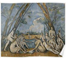 Paul Cezanne - The Large Bathers 1900-1906 Poster