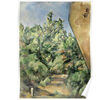 Paul Cezanne - The Red Rock  1895 Poster