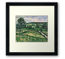 Paul Cezanne - The Tree by the Bend 1881 - 1882 Impressionism  Landscape Framed Print