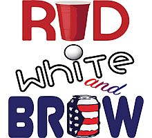 Red White and Brew  Photographic Print