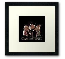 game of stone flintstone Framed Print