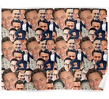 Tom Hiddleston Faces Poster