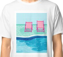 Vay-K - poolside throwback palm springs resort vacation country club retro minimal abstract hipster 1980s desert palm art Classic T-Shirt