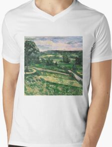 Paul Cezanne - Trees and Rocks, Impressionism  Landscape Mens V-Neck T-Shirt