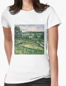 Paul Cezanne - Trees and Rocks, Impressionism  Landscape Womens Fitted T-Shirt