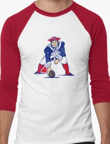 New England Patriot Old Men's Baseball ¾ T-Shirt
