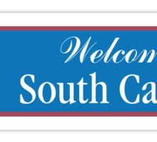 Welcome to South Carolina, Road Sign, USA Sticker