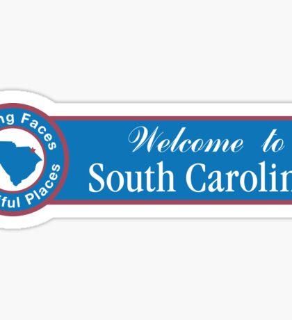 Welcome to South Carolina, Road Sign, USA Sticker