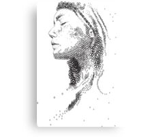 Typography woman portrait Canvas Print