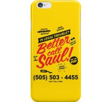 Better Call Saul: Logo T-shirt iPhone Case/Skin