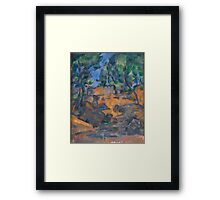 Paul Cezanne - Trees and Rocks, Near the Château Noir Impressionism  Landscape Framed Print