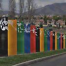 Flags ~ Olympic Training Center Chula Vista, California ~ USA by Marie Sharp