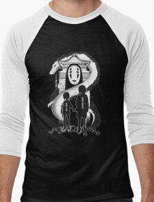 Spirited Noir  Men's Baseball ¾ T-Shirt
