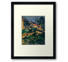 Paul Cezanne - Turning Road at Montgeroult 1898 Impressionism  Landscape Framed Print