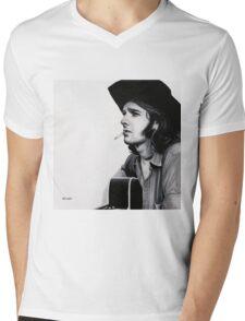 Glenn Frey Mens V-Neck T-Shirt
