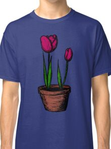 Potted Tulips Classic T-Shirt