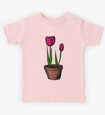 Potted Tulips Kids Tee