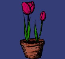 Potted Tulips Unisex T-Shirt