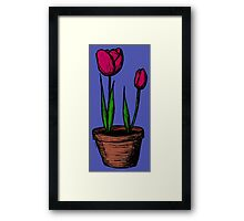 Potted Tulips Framed Print
