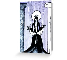 The High Priestess - tarot series by Minxi Greeting Card