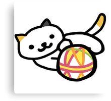 Neko atsume - Playful Cat Canvas Print