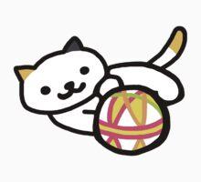 Neko atsume - Playful Cat One Piece - Short Sleeve