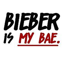 Bieber Is My Bae Photographic Print