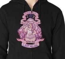"""""""Pink hair thick ass"""" Rose Quartz~  Zipped Hoodie"""