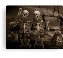 mortal selfie Canvas Print
