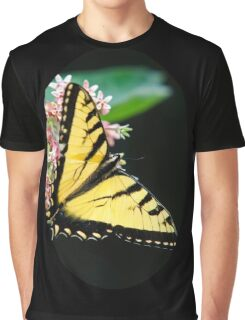 Swallowtail Butterfly and Milkweed Flowers Graphic T-Shirt
