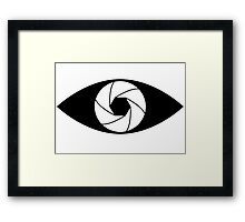 Photographer Photography Lens Framed Print