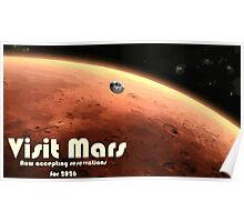 Mars Nasa Travel Poster - Illustrated Version Poster