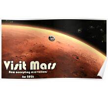 Mars Nasa Travel Poster - Illustrated Version Poster